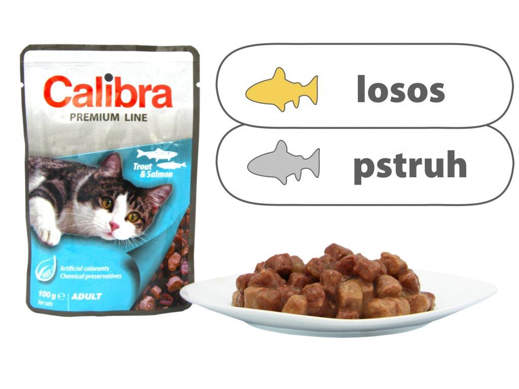 Calibra Cat kapsa Premium Adult Trout & Salmon 100 g