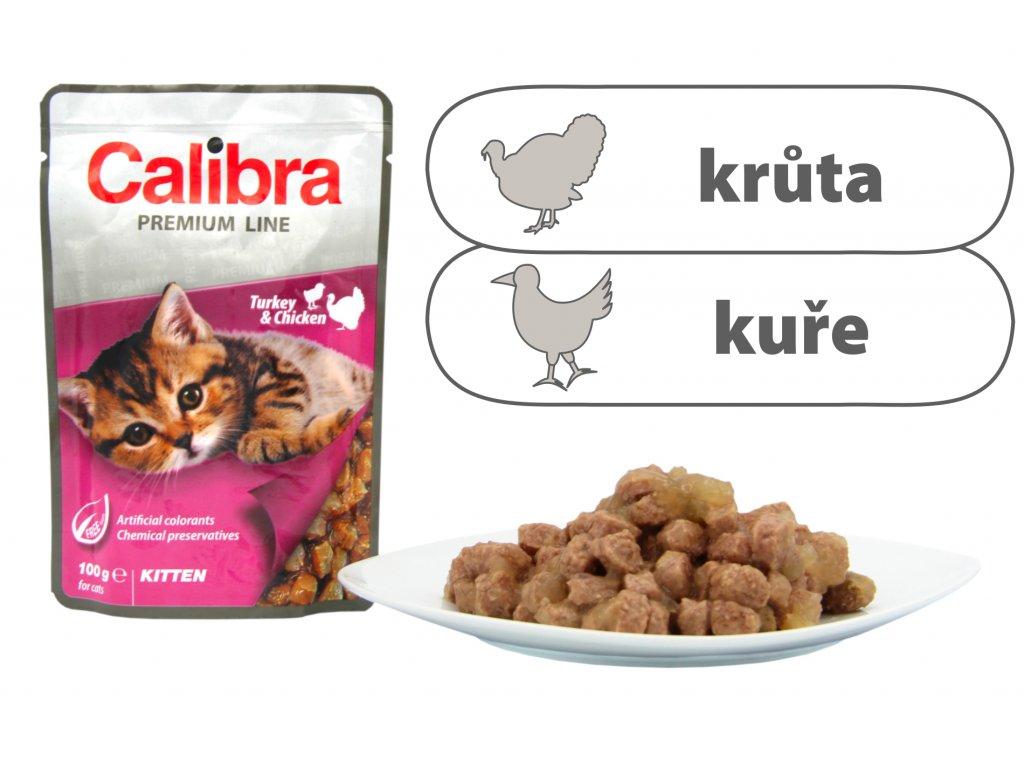Calibra Cat kapsa Premium Kitten Turkey & Chicken 100 g