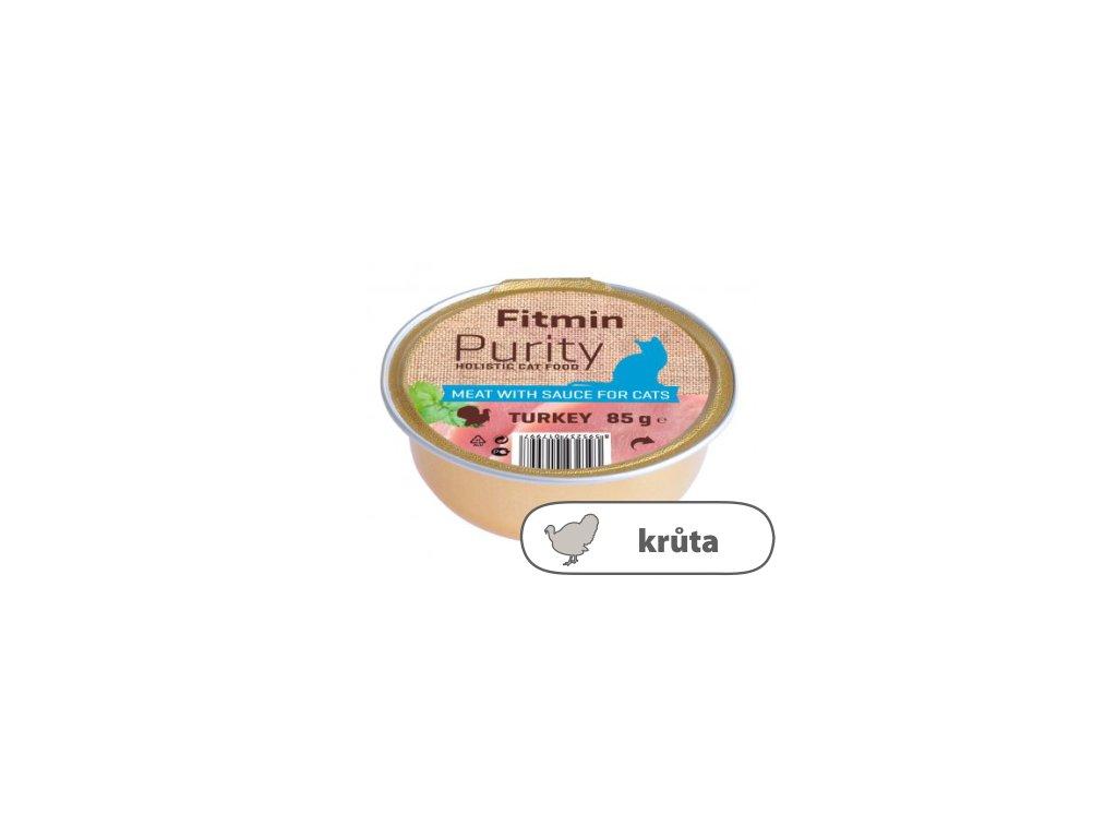 Fitmin Purity Krůtí maso ve vývaru pro kočky 85 g