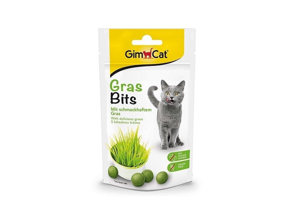Gimpet pamlsky pro kočky Gras Bits s kočičí trávou tablety 40 g