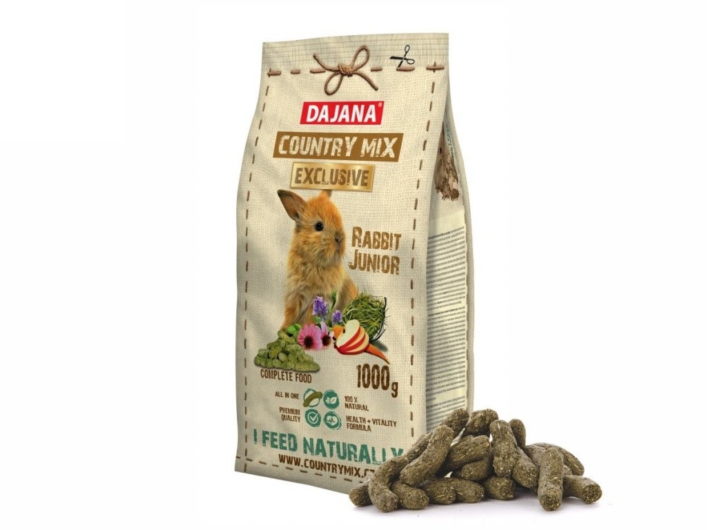 32232 dajana country mix exclusive rabbit junior 1000 g 1