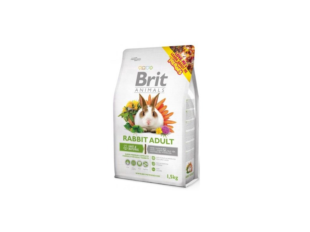 Brit Animals RABBIT ADULT complete 1,5 kg