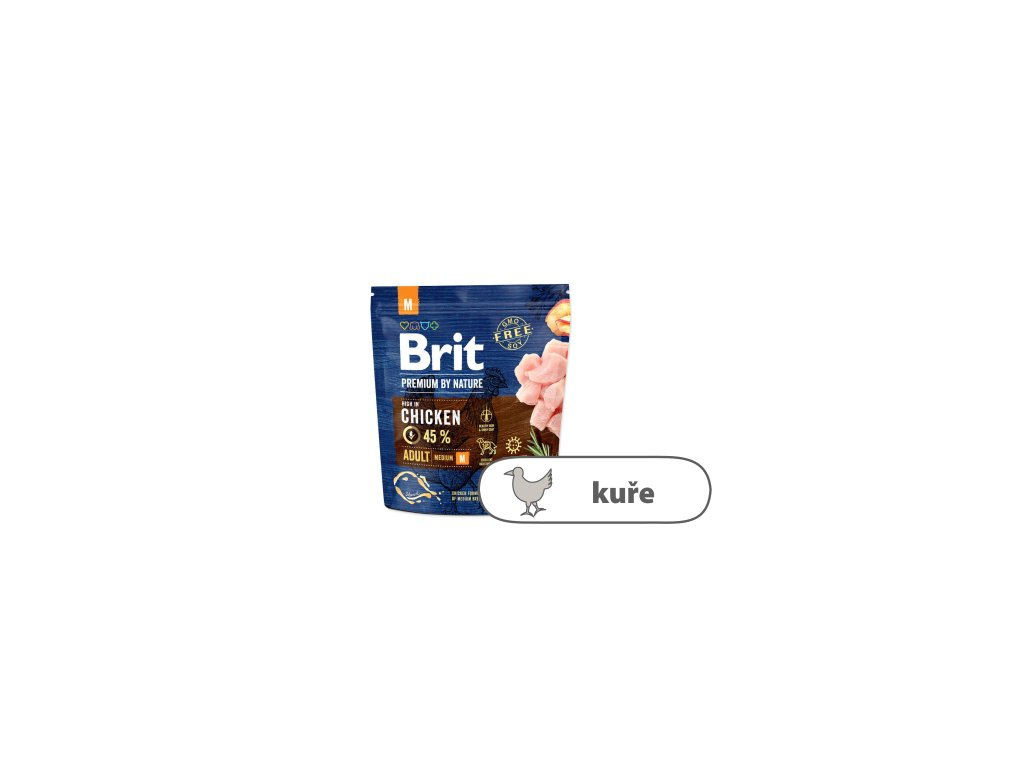 Brit Premium by Nature Adult M 1 kg