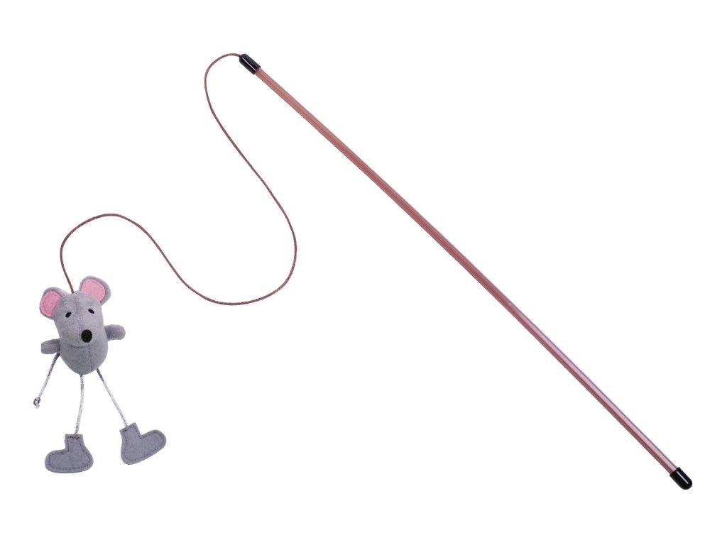 Nobby hračka pro kočky udice s myškou s catnipem 50cm