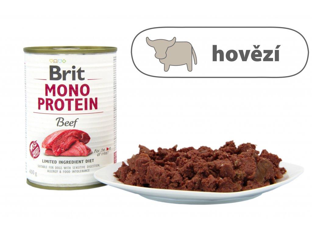 Brit Mono Protein Beef štítek