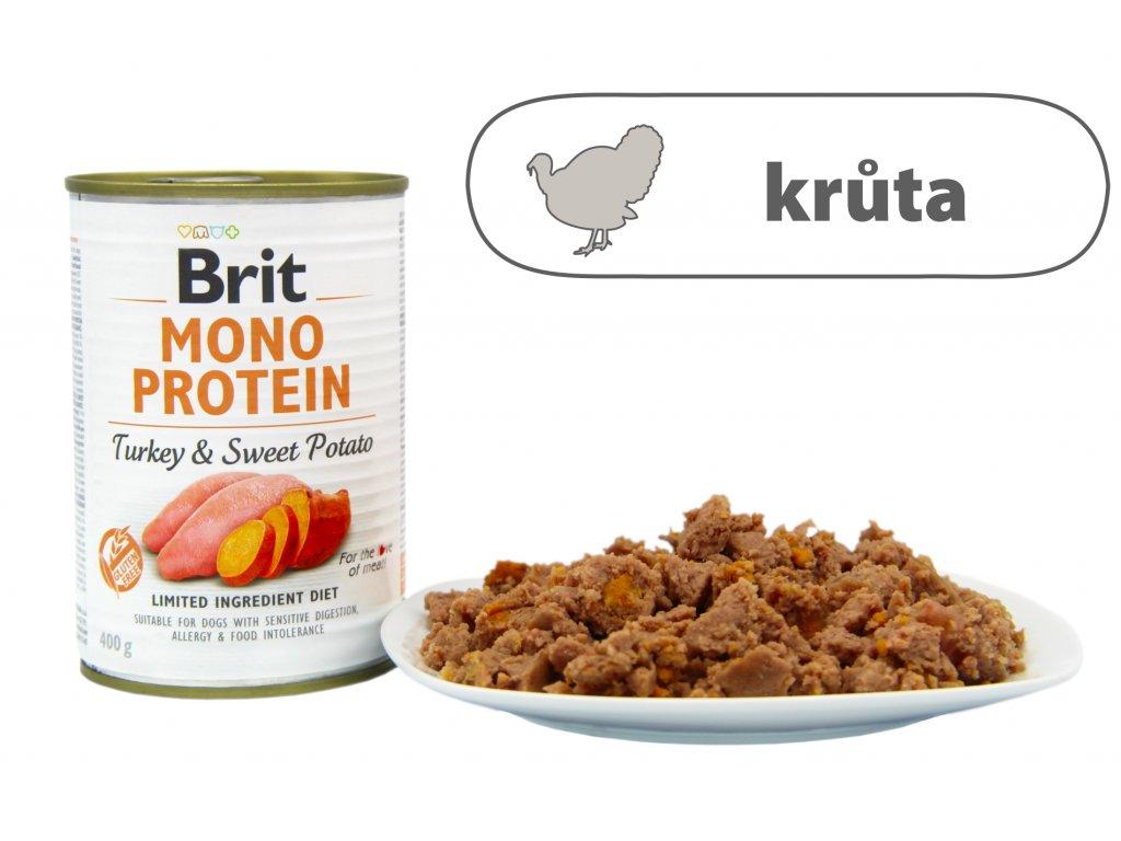 Brit Mono Protein Turkey and Sweet Potato štítek