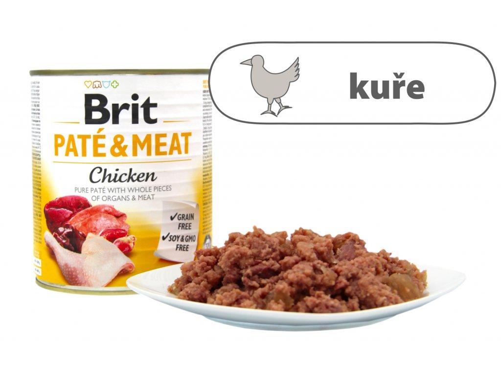 Brit Pate and Meat Chicken větší konzerva štítek