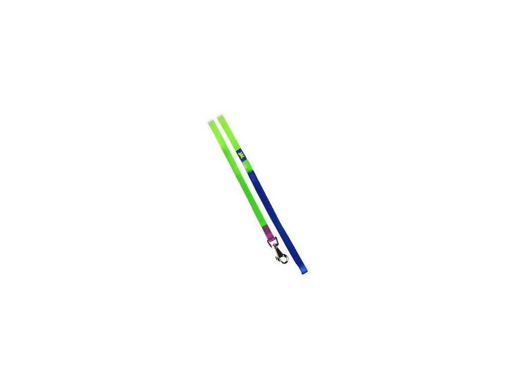 Vodítko 15 mm x 120 cm, zeleno – modré