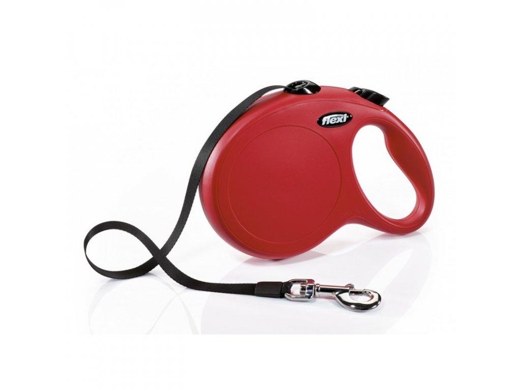 Vodítko Flexi Classic M 5m (max 25kg) pásek červená