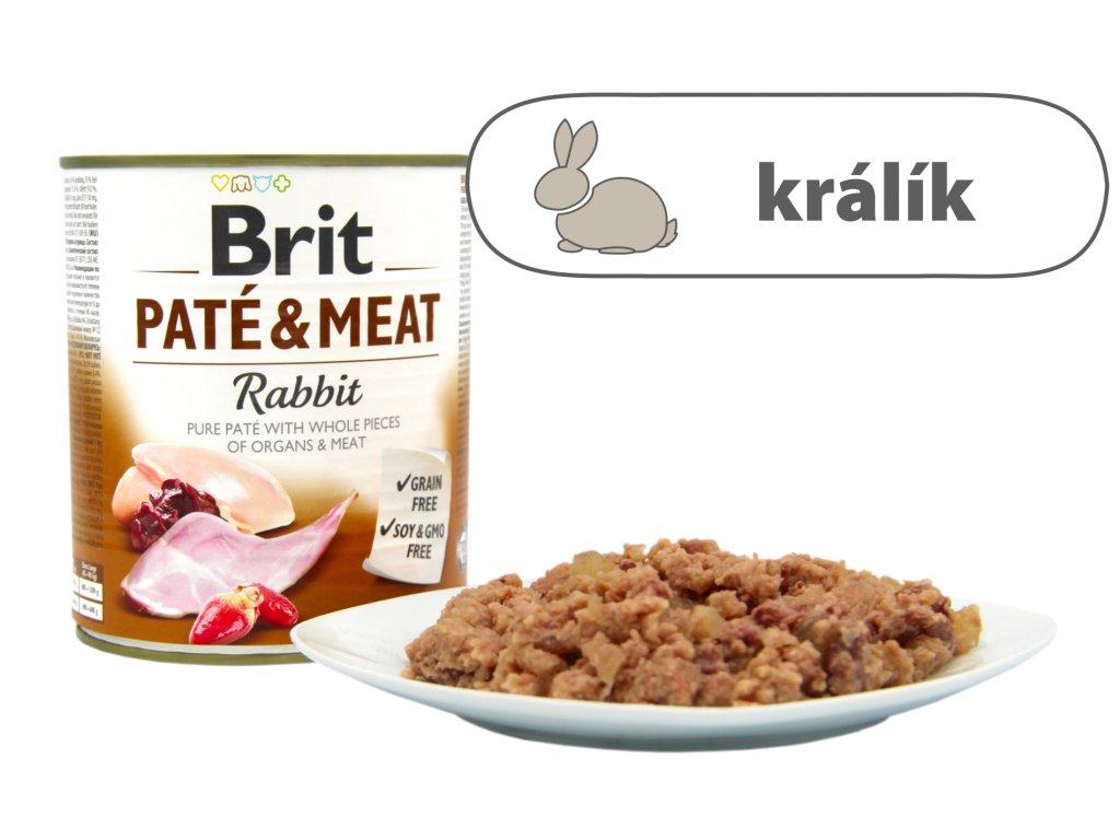Brit Pate and Meat Rabbit větší konzerva štítek