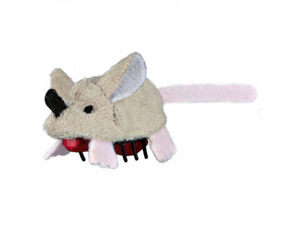 Plyšová běhací myš na baterie 5,5 cm