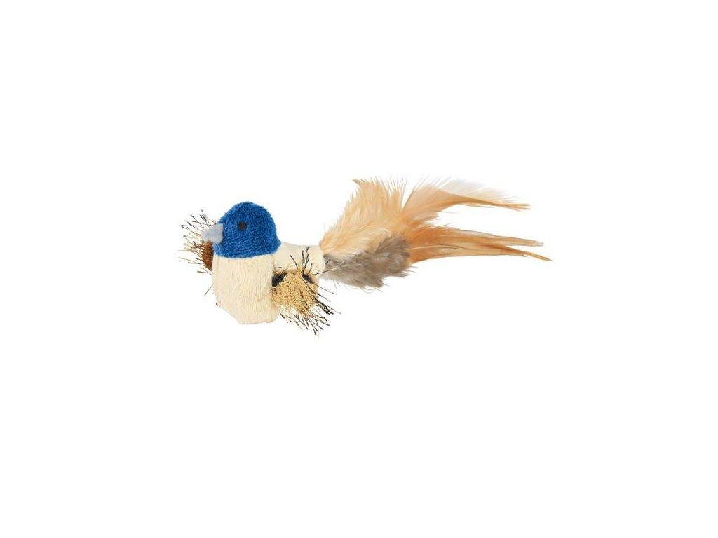 Ptáček s peřím, plyš 8 cm