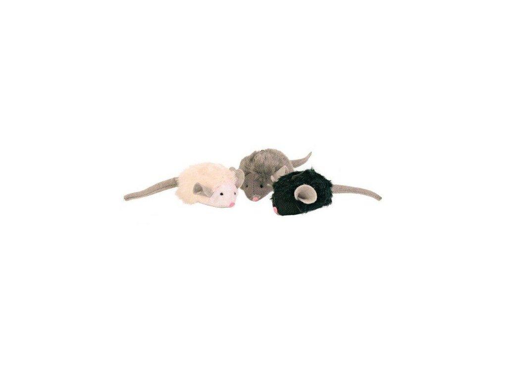 Mikročipová myš se zvukem, catnip 6 cm