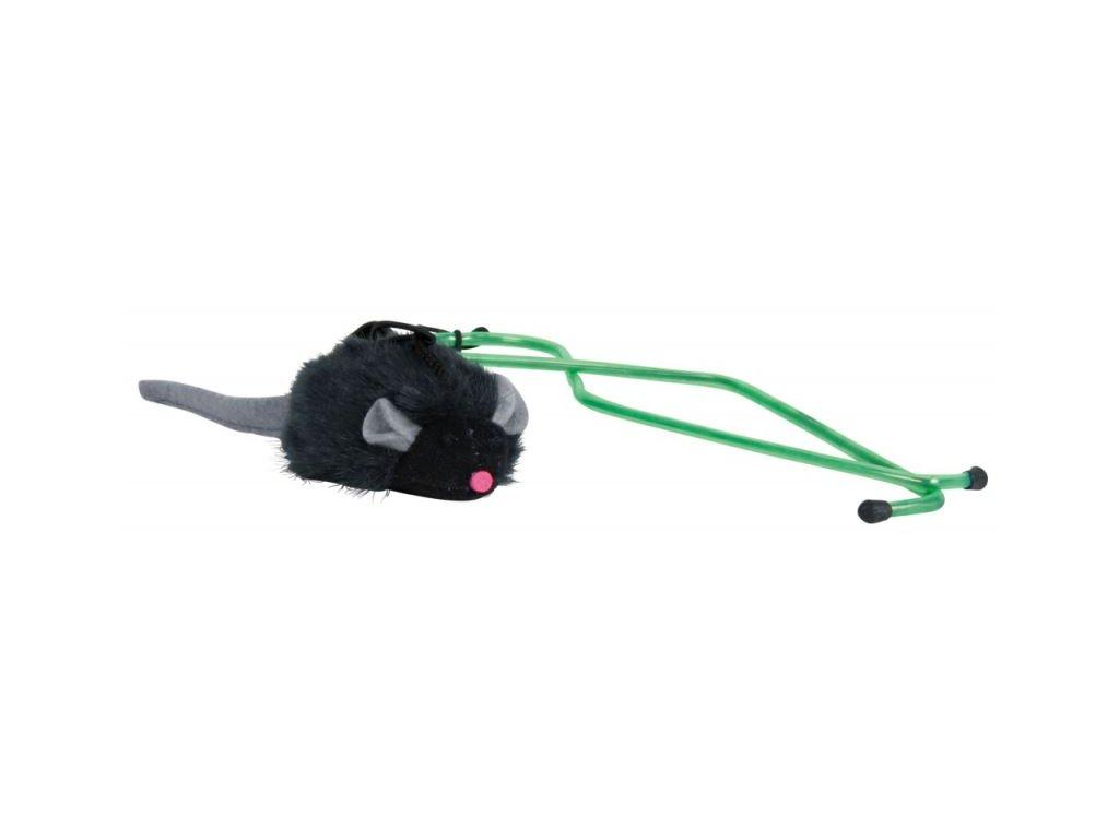 Squeaky myš na gumě, k zavěšení na dveřní rám 7 cm 135 cm