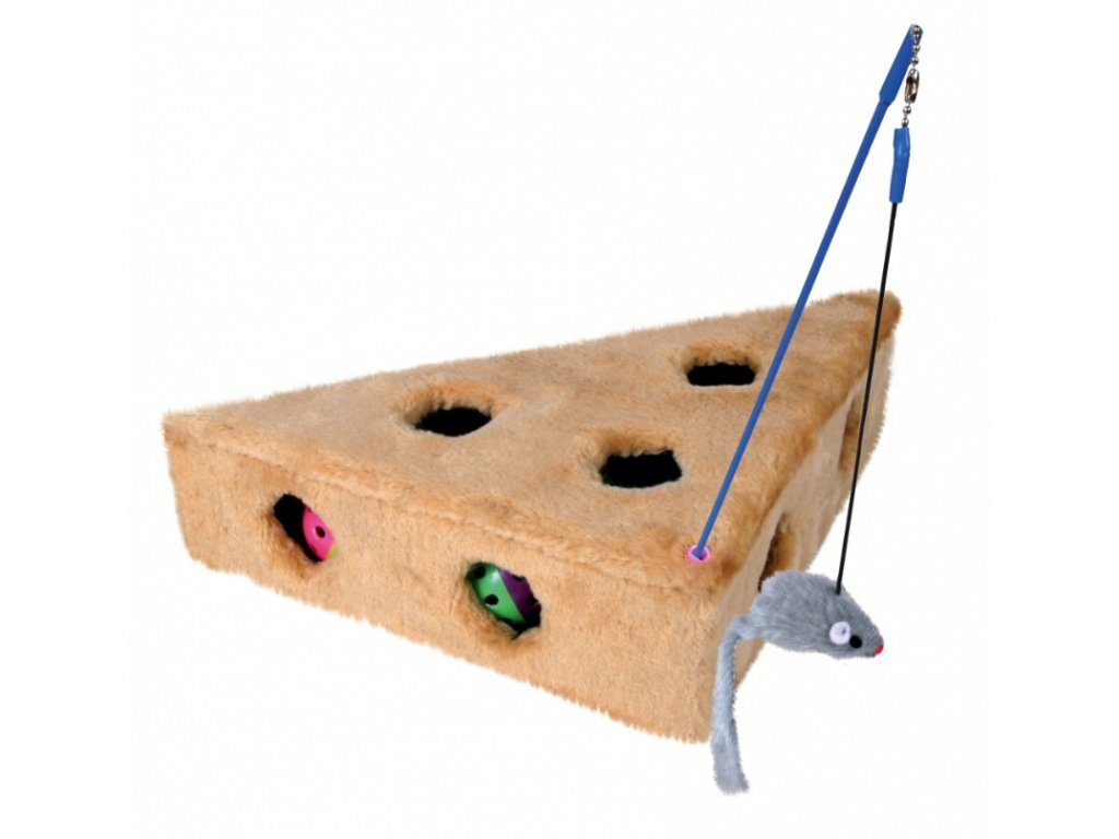 Hračka sýr Ementál s myškou 36x8x26 26cm