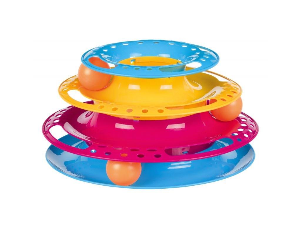 Kruhová věž bubínek s míčky 25 cm x 13 cm