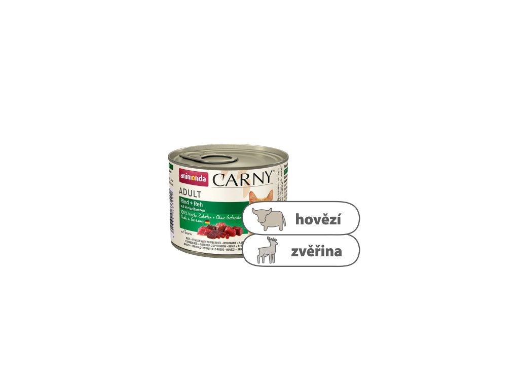 Animonda CARNY Adult – hovězí, srnčí, brusinky 200 g