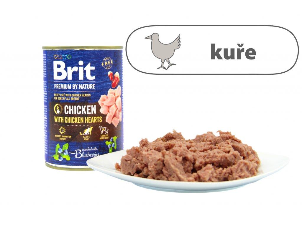 Brit Premium by Nature Chicken menší konzerva štítek