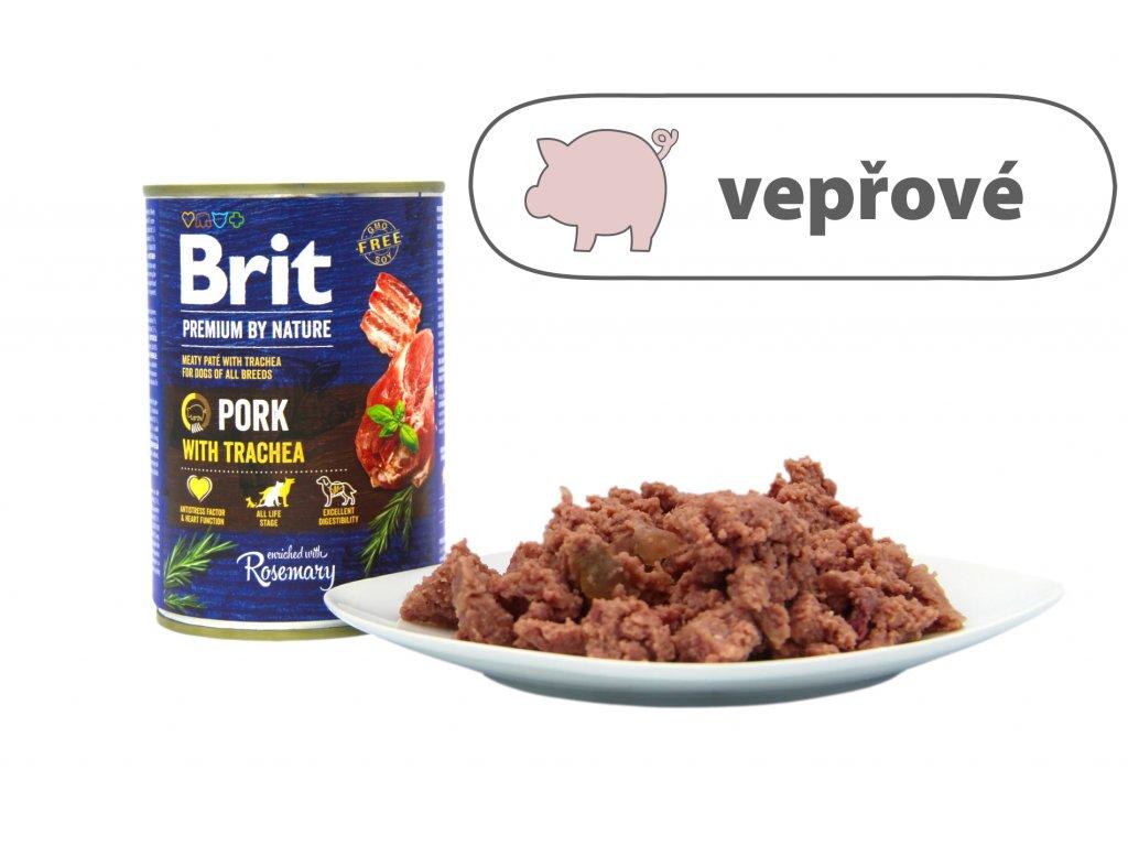 Brit Premium by Nature Pork menší konzerva štítek