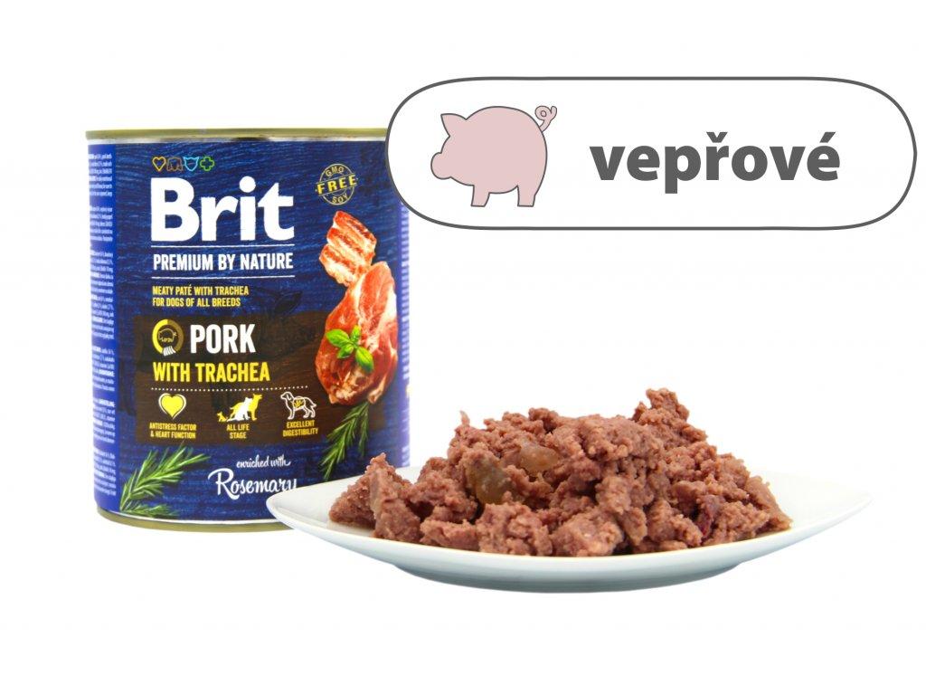 Brit Premium by Nature Pork větší konzerva štítek