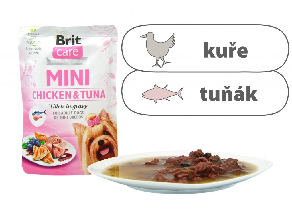 Brit Care Mini Chicken and Tuna štítek