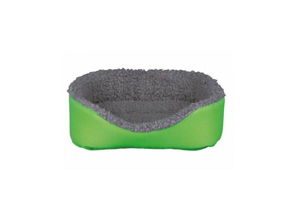 Vlněný pelíšek pro králíka 35 x 28 cm, šedá zelená
