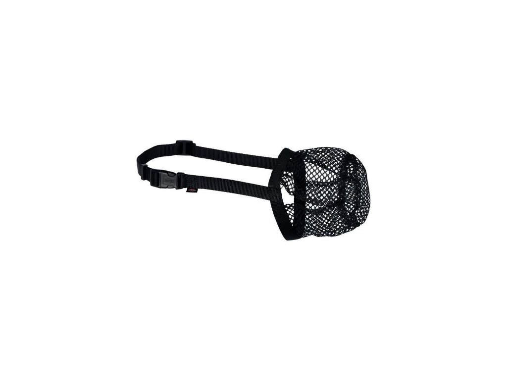 Ochranný náhubek polyester síťka XS S černý, 15 cm 18 32 cm