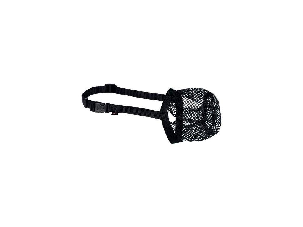 Ochranný náhubek polyester síťka S M černý, 22 cm 18 40 cm