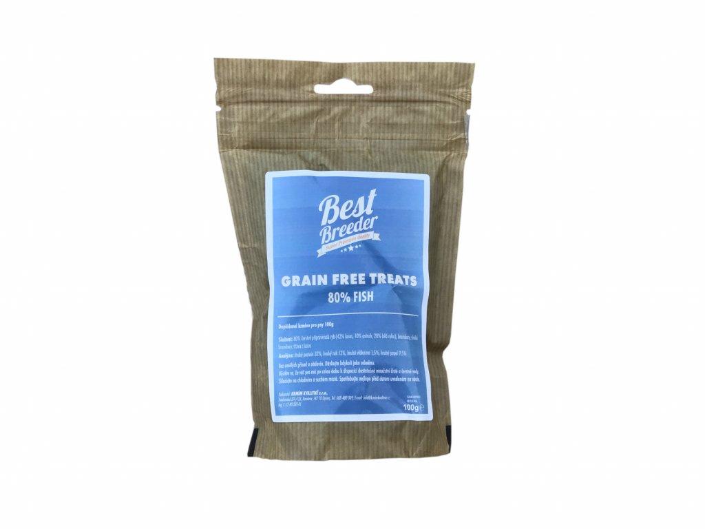 Best Breeder GF 80 % Fish Dog Treats 100 g