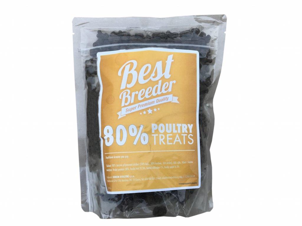 Best Breeder GF 80 % Poultry Dog Treats 500 g