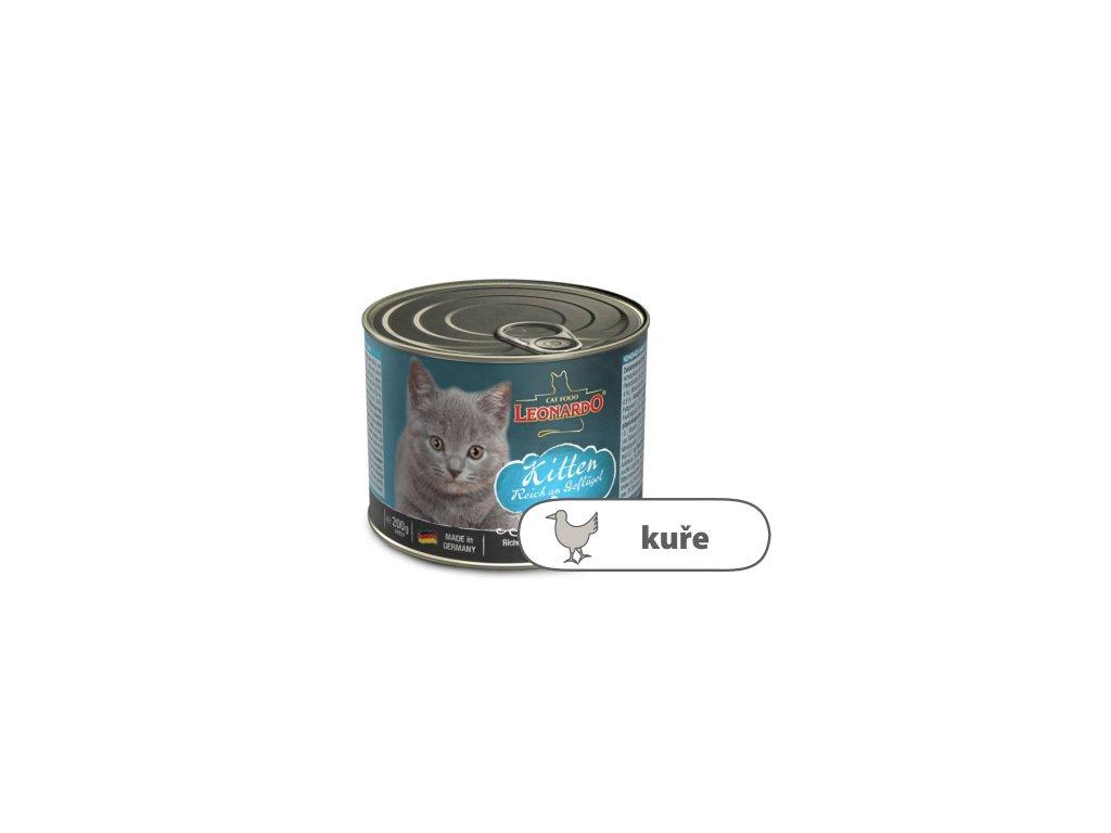 Leonardo Kitten bohaté na kuřecí maso 200 g