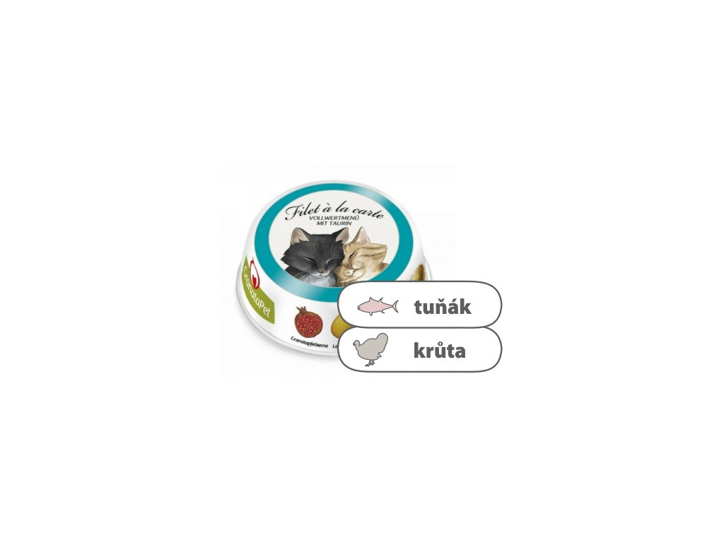GranataPet Filet á la Carte – Tuňák & krůta 85 g