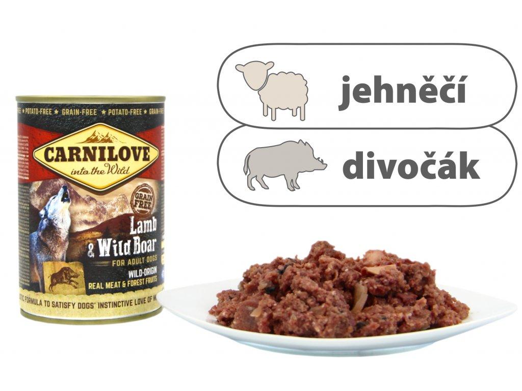 Carnilove Lamb and Wild Boar štítek