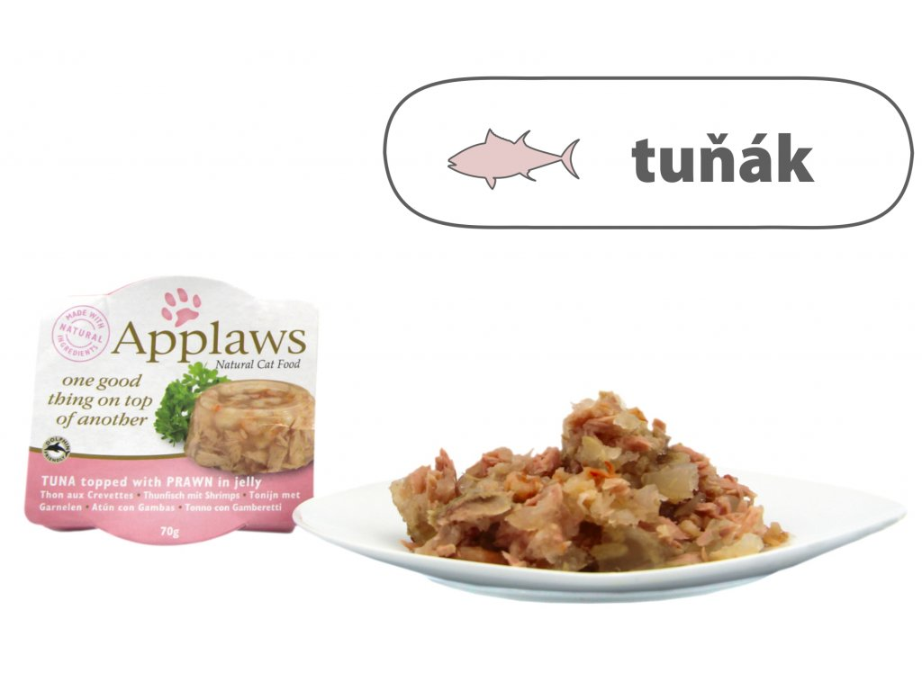 Applaws Cat Duo Aspik – Tuňák s krevetami 70 g