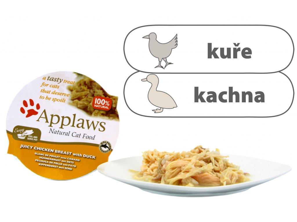 Applaws Cat Pot – Kuřecí prsa s kachnou 60 g