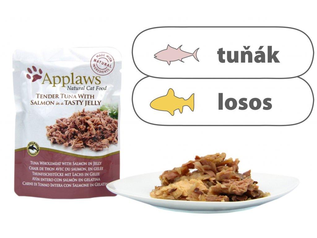Applaws kapsička Cat Jelly – Tuňák s lososem 70 g