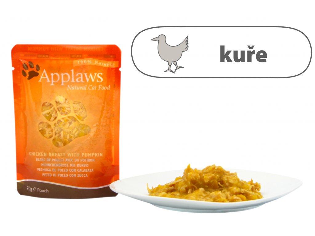 Applaws kapsička Cat – Kuřecí prsa a dýně 70 g