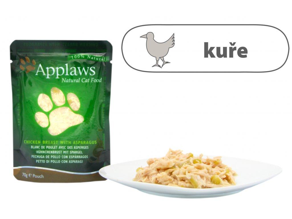 Applaws kapsička Cat – Kuřecí prsa a chřest 70 g