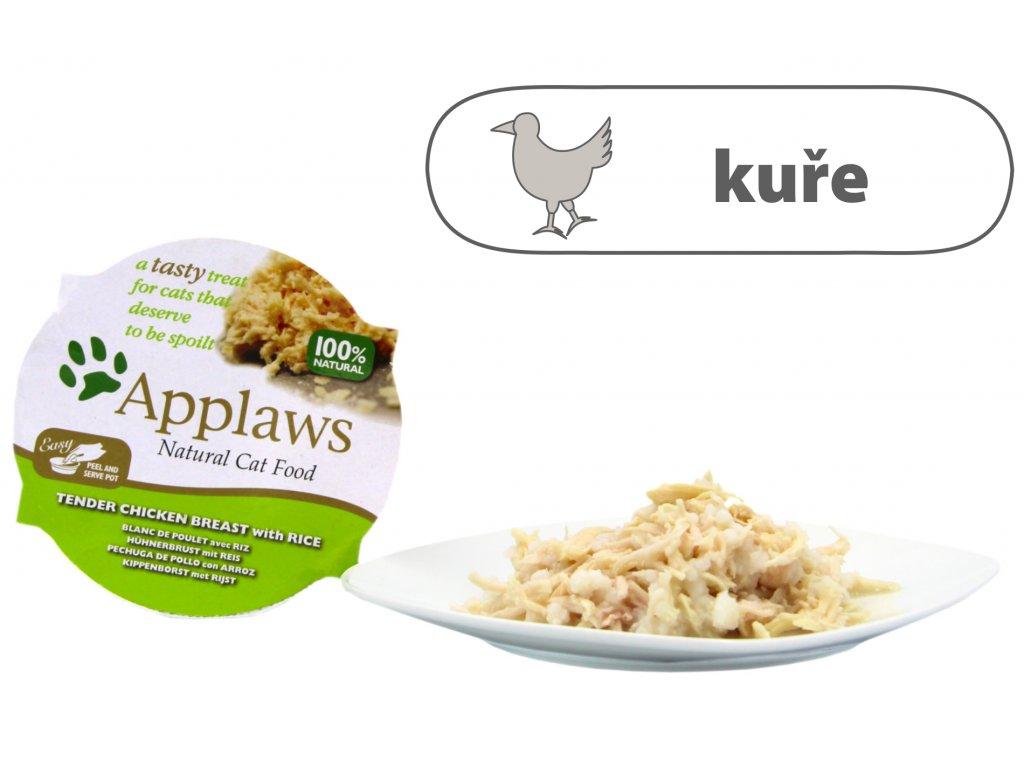 Applaws miska Cat Pot – Kuřecí prsa s rýží 60 g