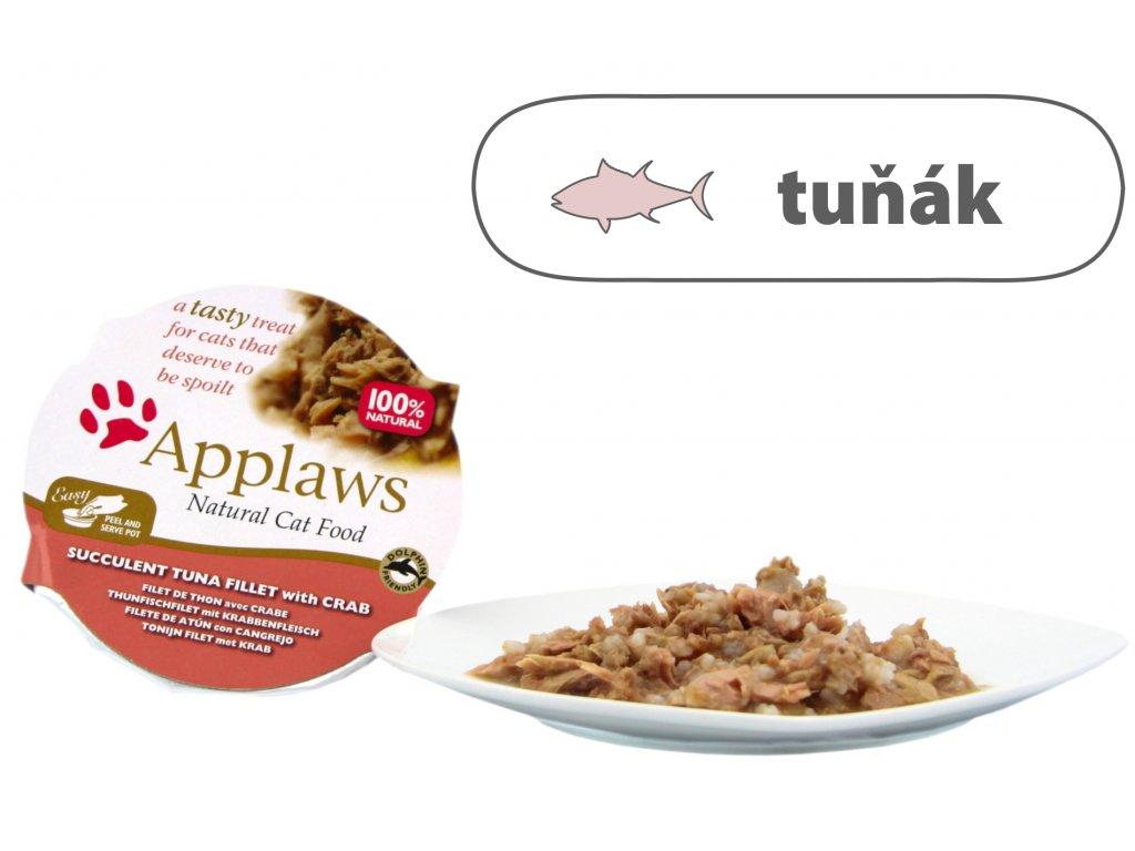 Applaws miska Cat Pot – Tuňák s krabem 60 g