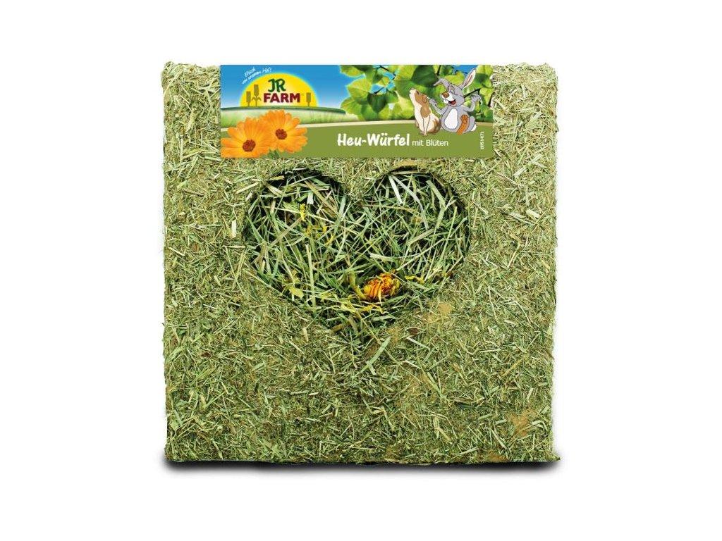 JR Farm Kostka ze sena s květy 450 g