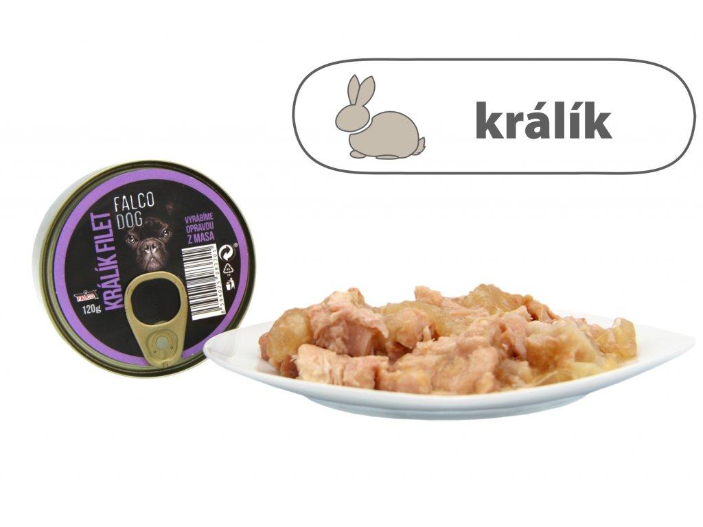 FALCO DOG králík filet 120 g