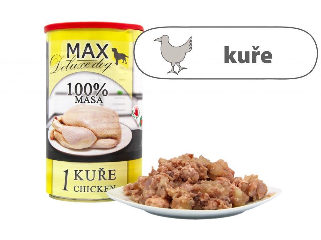 MAX 1 kuře štítek