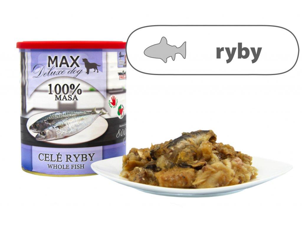 Max celé ryby štítek