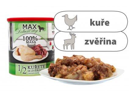 Max polovina kuřete se zvěřinou štítek