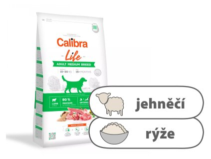 Calibra Dog Life Adult Medium Breed Lamb 2,5 kg