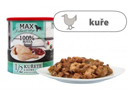 MAX Deluxe 1/2 kuřete s játry 800 g