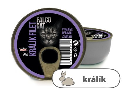 FALCO CAT králík filet 120g