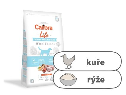 Calibra Dog Life Junior Medium Breed Chicken 2,5 kg