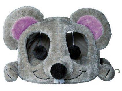 Plyšová myš LUKAS pelíšek s hračkou a škrábadlem 35x33x65cm 2